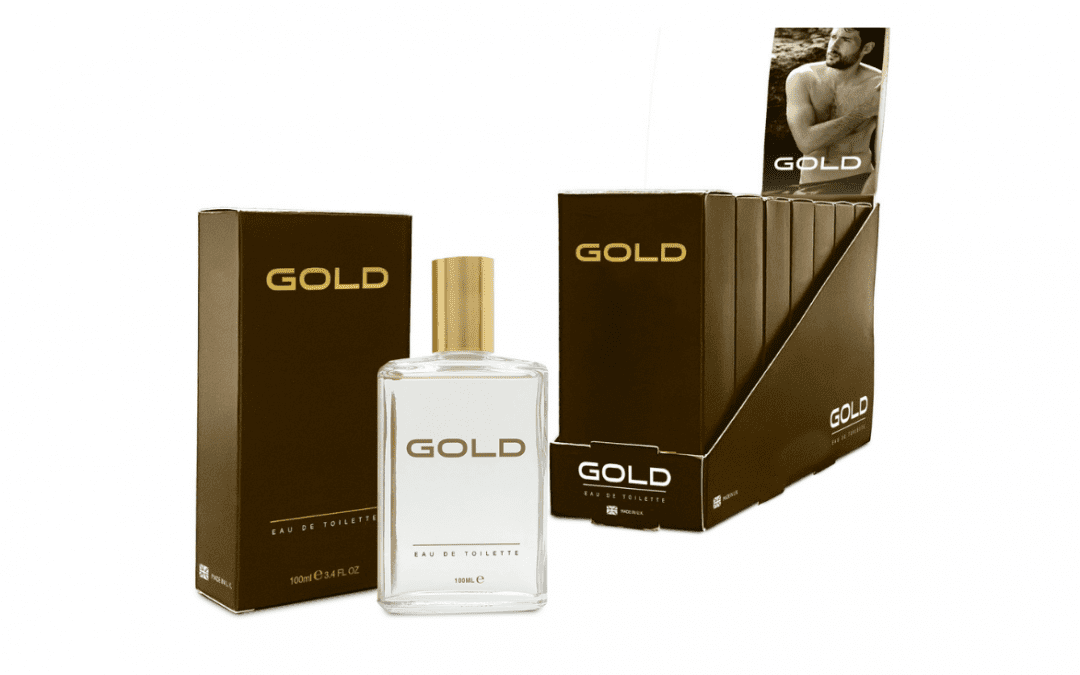 THREE PEARS BRANDS ADDS 1970'S GOLD EAU DE TOILETTE AND AFTERSHAVE SPLASH  TO IT'S CLASSIC SCENTS HERITAGE RANGE